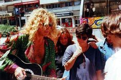 Robert Plant and fans, 90's