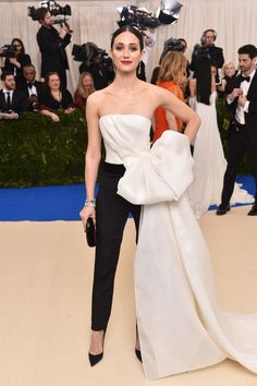 Emmy Rossum in Carolina Herrera at the Met Gala 2017 - understated elegance with a touch of extravagance