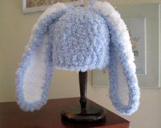 Blue bunny hat | Etsy