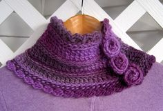 Mr. Micawber's Recipe for Happiness: Florealis Neckwarmer ~ a Free Crochet Pattern