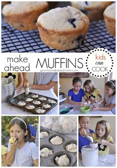 Make Ahead Muffins - Part of the Kids Can Cook Series at Your Homebased Mom