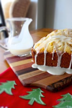 Ingredients   http://honestcooking.com/rum-glazed-eggnog-bread-recipe/