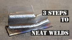 Here's 3 quick tips to help you get a neater looking finish on your MIG welding projects. Welding Classes, Welding Jobs, Welding Ideas, Mig Welding Tips, Welding Crafts, Welding Tips And Tricks, Shielded Metal Arc Welding, Metal Welding, Forging Metal
