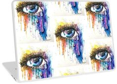 Who has there eye on your laptop ? LOL. Eye Color Love bring high key attention, and conversations. Fine art style illuminati eye on crazy items, designed by popular UK Artist Sophie Appleton. / Watercolor is about swirling rainbows of overwhelming love pouring from the soul. • Also buy this artwork on phone cases, apparel, home decor, and more.