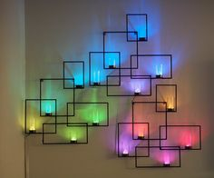 Wall Sconces with Hidden Weather Display and Tangible User Interface