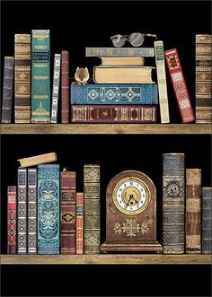 BugArt Jewels ~ Bookshelves. JEWELS Designed by Jane Crowther.