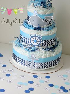 PLEASE READ SHOP ANNOUNCEMENT BEFORE PLACING YOUR ORDER ANY QUESTIONS FEEL FREE TO CONTACT ME Listing is for 1 Three Layer Diaper cake  Pick Your Theme