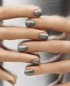 Silver Linings  silver metallic nails