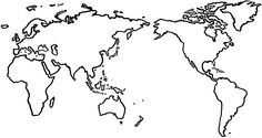 World Map - Simple line drawing | This and That | Drawings, Map ...
