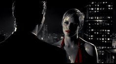 In this shot, we have another camera angle change and it's an over the shoulder… Broken Mirror Art, Shot Film, Camera Angle, Medium Blog, Sin City, Body Language, Color Splash, Thriller, Interview