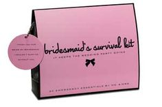 I love this company's minimergency kits, what a great idea for bridesmaids' gifts!
