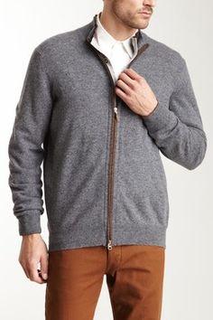 Gran Sasso Double Placket Full Zip Sweater