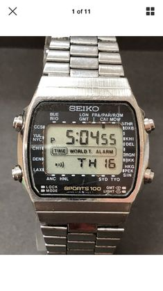 Stylish Watches, Luxury Watches, Cool Watches, Watches For Men, Retro Watches, Vintage Watches, Seiko Vintage, Best Looking Watches, Nerd Chic