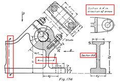 Section Views tutorial in AutoCAD with video 3d Drawings, Technical Drawings, Learn Autocad, Autodesk Inventor, Ship Drawing, Drawing Exercises, Drawing Practice, Mechanical Engineering, Tool Design