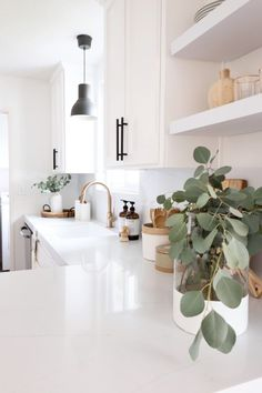 modern and minimal home decor inspiration simple white kitchen with . - modern and minimal home decor inspiration simple white kitchen with … – modern and minimal home - Küchen Design, Layout Design, House Design, Design Ideas, Design Trends, Nordic Design, Plant Design, Design Styles, Decor Styles