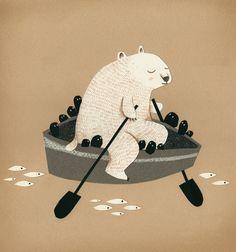 Samuel Ribeyron   Bear in a boat
