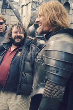 Boromir and...is that Peter Jackson?