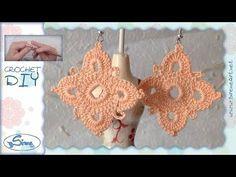 Tutorial Uncinetto ❀ Orecchini ❀ (1) [crochet earrings] - YouTube