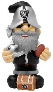 """Oakland Raiders Garden Gnome 11"""" Thematic - Second String - BiggSports.com"""