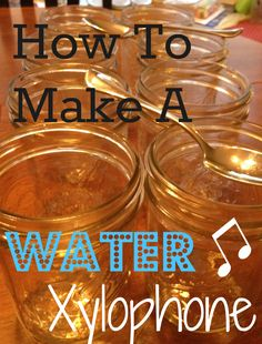 How to make a The Water Xylophone - easy DIY musical instrument