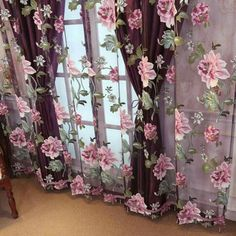 Cortinas in 2020 Cortinas Shabby Chic, Rideaux Shabby Chic, Shabby Chic Curtains, Home Curtains, Curtains Living, Curtains With Blinds, Shabby Chic Decor, Ceiling Curtains, Sheer Drapes