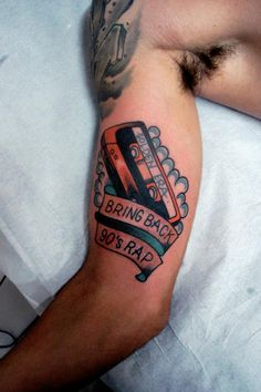 """fuckyeahtattoos:    """"Bring back 90's rap!""""Made on February day 162012, in the studio Tattoo classic - Curitiba - PR"""