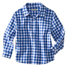 bright blue gingham shirt perfect for camping!