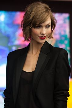 Karlie Kloss at the unveiling of the Fall 2013 Mercedes-Benz Fashion Collaboration.