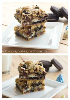 Double Cookies n' Cream Kiss Bars