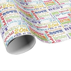#Unique And Special 20th Birthday Party Gifts Wrapping Paper - #giftidea #gift #present #idea #number #twenty #twentieth #bday #birthday #20thbirthday #party #anniversary #20th