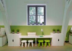 Leuk om de muur erachter in een felle kleur te schilderen | stuva