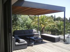 Roof #pergola with timber #ceiling- a lovely idea