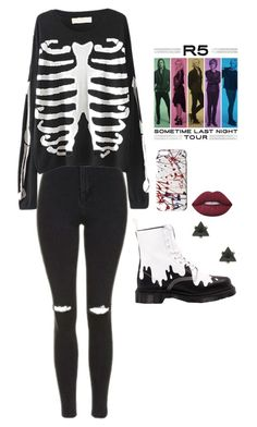 """Untitled #3471"" by if-i-were-famous1 ❤ liked on Polyvore featuring Topshop, Dr. Martens, Marc Jacobs and Lime Crime"