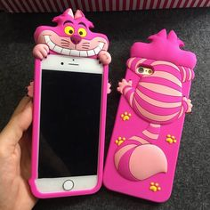 Pink 3D Cheshire Cat Soft iPhone Case for Iphone 5S 6 6Plus