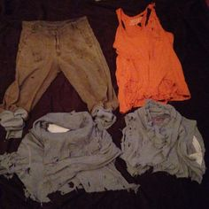 My diy post-apocalyptic / dystopia wardrobe :)   (Dying still needs to be done)