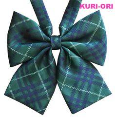 【楽天市場】KURI-ORI[クリオリ]オリジナルリボンタイ KRR161グリーンチェック【日本製】制服リボン:スクールグッズ・KURI-ORI
