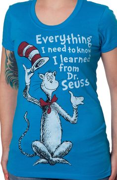 Learned From Dr Seuss T-Shirt: Dr Seuss Juniors T-shirt