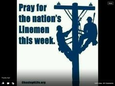 Pray for those leaving their familiies to help neighboring States restore power .Let them all return home safe. Lineman Love, Power Lineman, Electrical Lineman, Journeyman Lineman, Storm Quotes, Knight In Shining Armor, Lyric Quotes, Lyrics, New Chapter