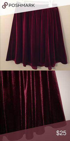 American Apparel Velvet Skirt Burgundy velvet skater skirt. Only worn once. American Apparel Skirts Circle & Skater