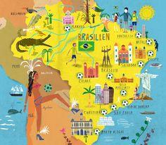 Martin Haake - Map of Brazil