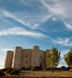 Europe | Castel del Monte, Andria, Puglia. A 13th century castle, built by Holy Roman Emperor Frederick II sometime in the 13th Century. Probably one of the most oft-looted castles, there was not much left when the Italian government decided to restore it in the early 1900's.