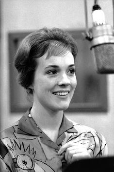 Julie Andrews in a recording session for Camelot - Original Broadway Cast Recording 1960 | The Official Masterworks Broadway Site