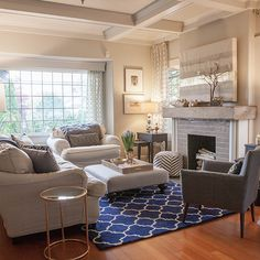 My Home Tour: My Living Room in Navy and Gold