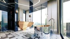 #rock star  #bathroom 1 Meet Kris Turnbull Top 10 Decor and Style Projects canary wharf london