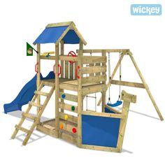 WICKEY SeaFlyer Climbing Frame Outdoor Wood Swing Set Slide Garden   eBay