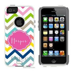 The first cute otter box I've found | Monogrammed Otterbox® Iphone 5 Case Multi Chevron | Lipstick Shades