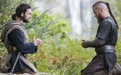"""Teach me to pray"". George Blagden as Athelstan, Travis Fimmel as Ragnar. Season 2, Episode 10: The Lord's Prayer."