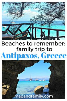 Family day trip to Antipaxos from Paxos, Greece. Best beaches to visit in the Ionian islands. How to get to Antipaxos. #familytravel #greekislands #familyholiday