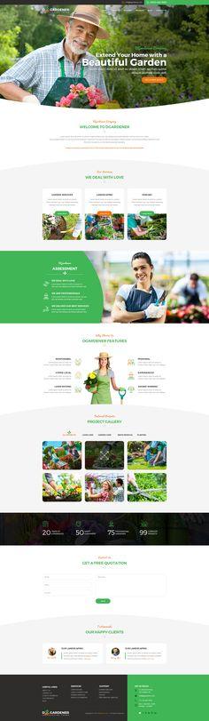 dGardener - Gardening and Landscaping PSD template #landscape architects #landscaper #landscaping • Download ➝ https://themeforest.net/item/dgardener-gardening-and-landscaping-psd-template/20824751?ref=pxcr