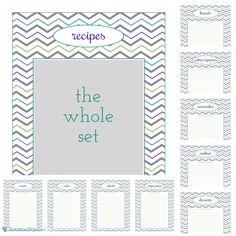 Binder spine template | Printables & Patterns | Pinterest | Recipe ...